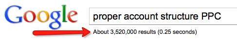 proper adwords account structure