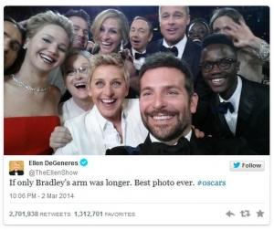 Ellen Twitter photo