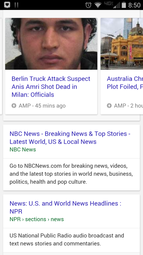 What does Google AMP look like?