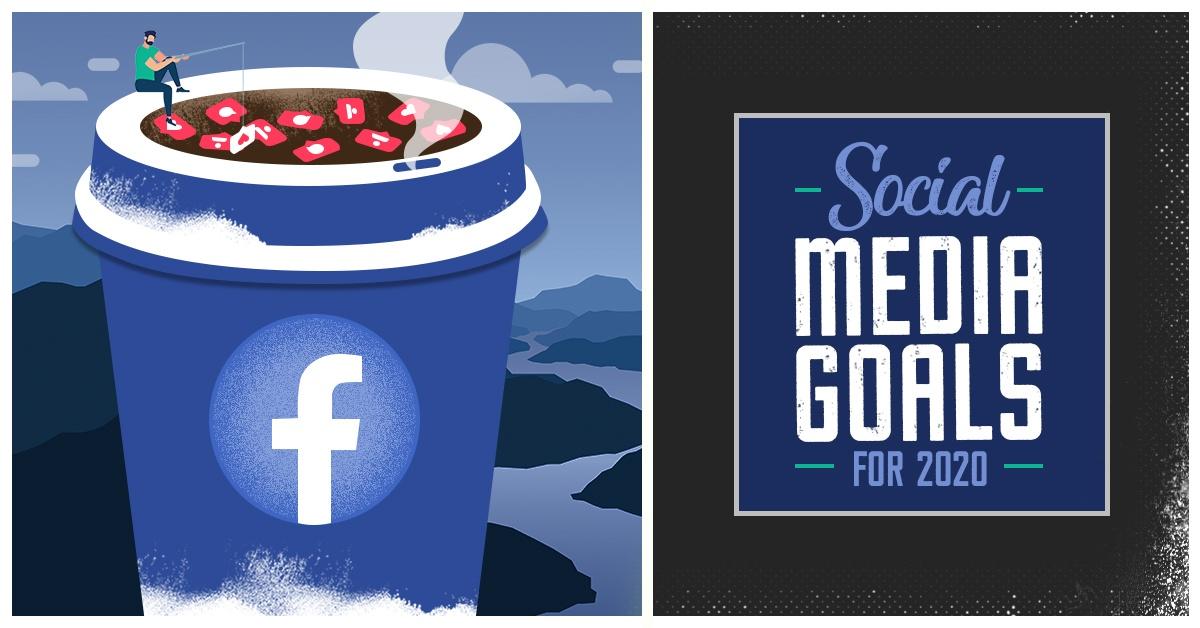 social media goals for 2020 | clicks and clients