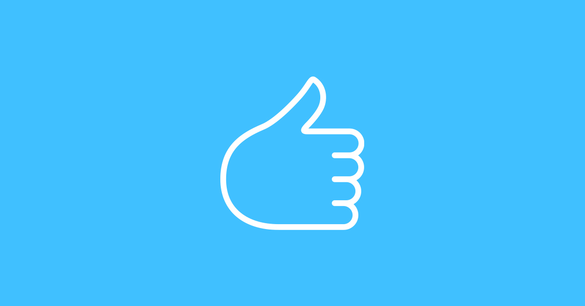 Social Media Thumbs-Up Like Icon